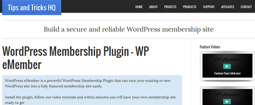 WP eMember Membership Site Plugin Review